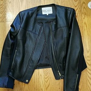 Leather moto jacket Rachel roy